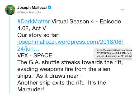Dark Matter Virtual Season 4 – Episode 4.02, Act 5!