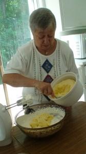 Add the custard