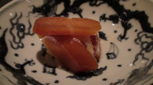 Pressed roe with fig