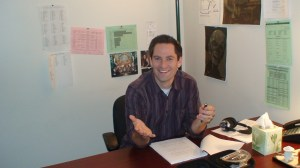 Alan back in the office.  Back?  He never left!