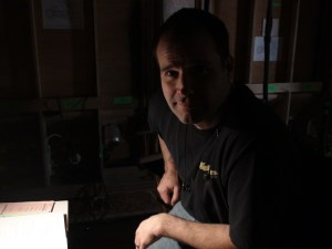 Director Peter DeLuise during a break in the action.