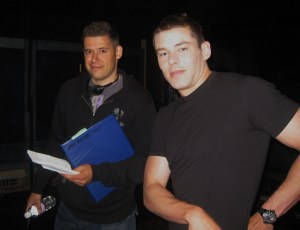 Director Ivon Bartok and Brian J. Smith (Lt. Matthew Scott).