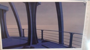 Early concept art of Destiny's observation deck.