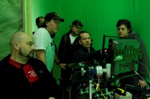 Director Andy Mikita and co. (Grizz, Mark, Ryan, and Shannon).  Photo compliments and copyright MGM Television.