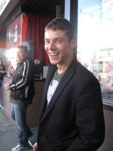Actor Brian J. Smith (SGU's Lieutenant Matthew Scott) intermissing at intermission.