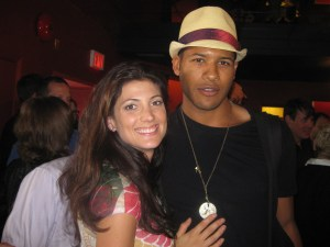 Actress Julia Benson (SGU's Lieutenant Vanessa James) and actor Jeffrey Bowyer-Chapman (Airman Darren Becker)