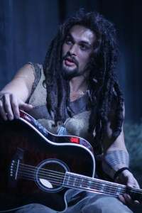 Ronon attempts to impress the wraith with his guitar skills - Stargate: Atlantis, Season 5, Broken Ties (photo courtesy and copyright MGM Television)