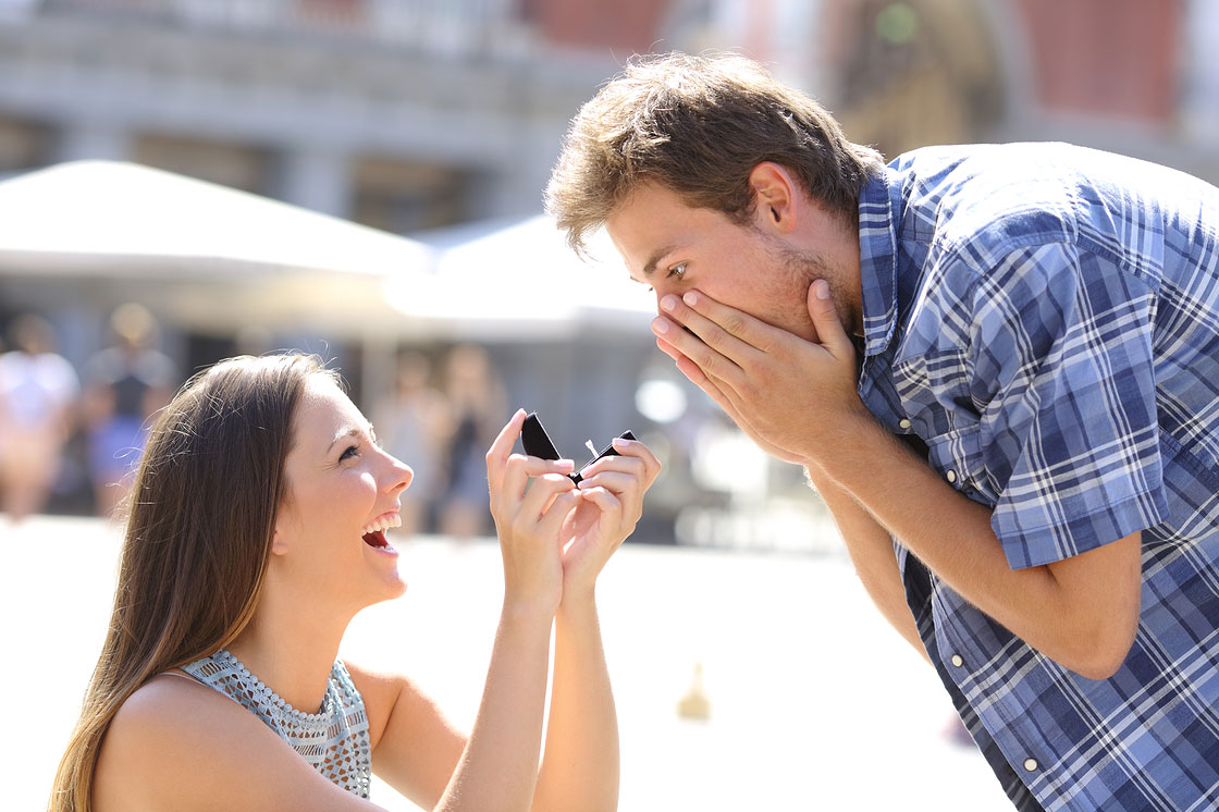 Woman Marriage Proposal