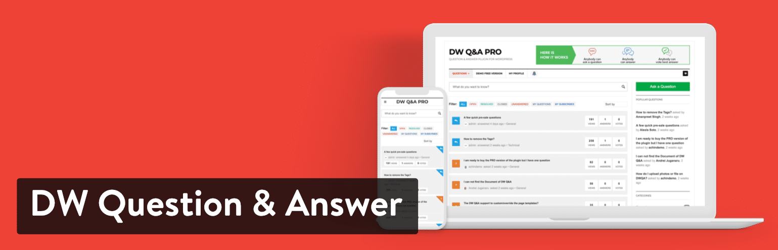 DW Question & Answer Pro Plugin
