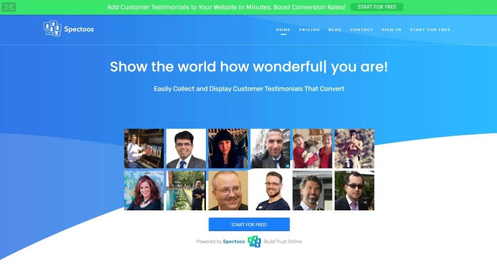 Spectoos | The No #1 Platform to Add Website Testimonials