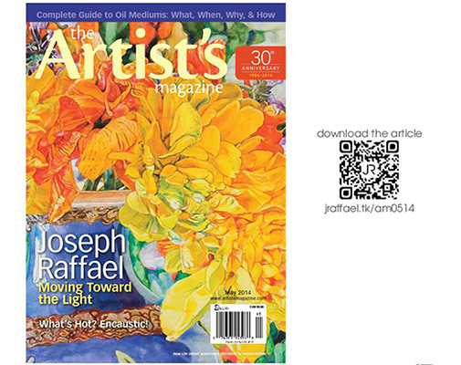 The Artist's Magazine - May 2014 Joseph Raffael - Moving Toward the Light by Betsy Dillard Stroud