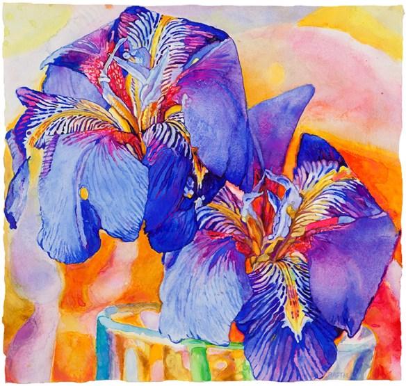 Rachelle's Gift watercolor on paper 45.1 x 47.6 cm - 17.75 x 18.75 in.  2017