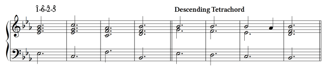 Ex. 3a. Connecting to the descending tetrachord on the tonic.