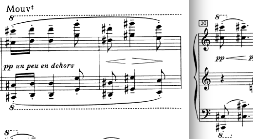 Ex. 2: The contrasting melody. Bars 18-20
