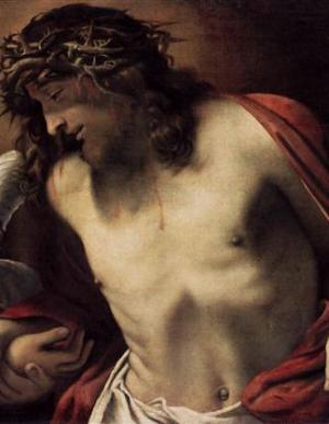 """""""Christ Wearing The Crown Of Thorns, Supported By Angels"""" (1585-1587) — Annibale Carracci"""