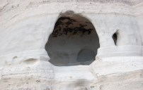 Caves were carved into the rock by people - the rock is quite soft