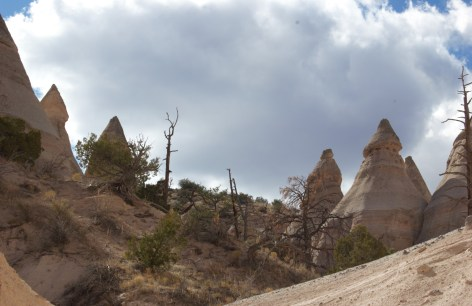 Cloudy skies dramatically change the look and feel of Tent Rocks