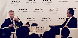 Mayor Garcetti and David Drier at Getty House Asia Recap
