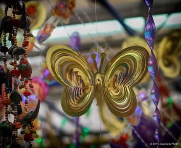 Paper-mache butterfly