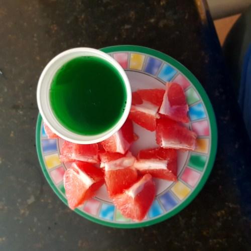Toronja y gelatina