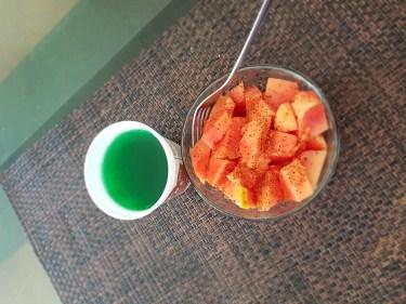 Papaya y gelatina