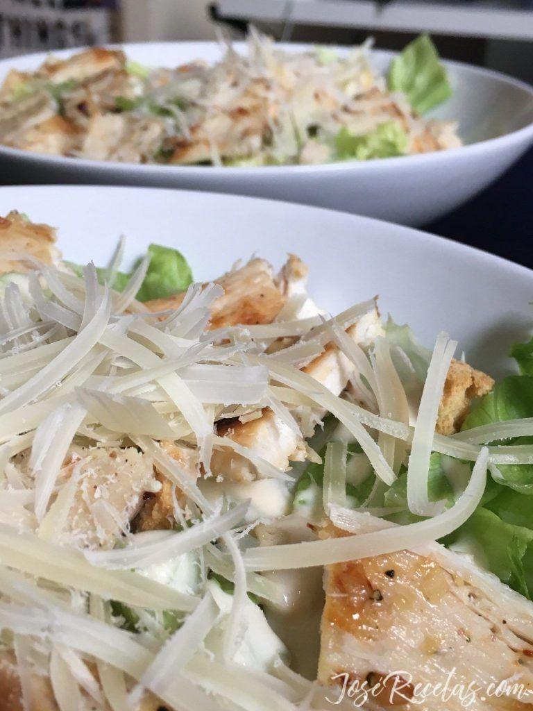 ensalada césar con pollo joserecetas.com