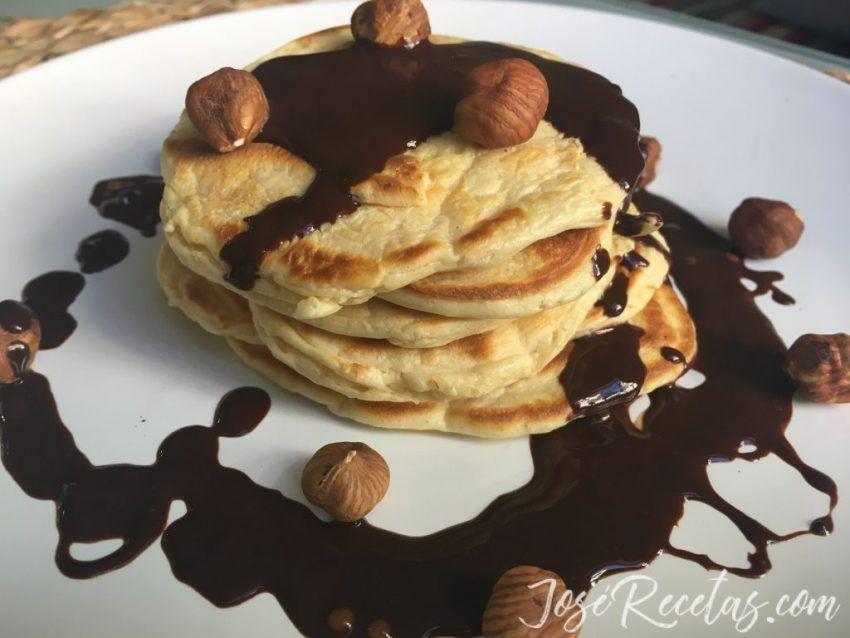 pancakes con avellana