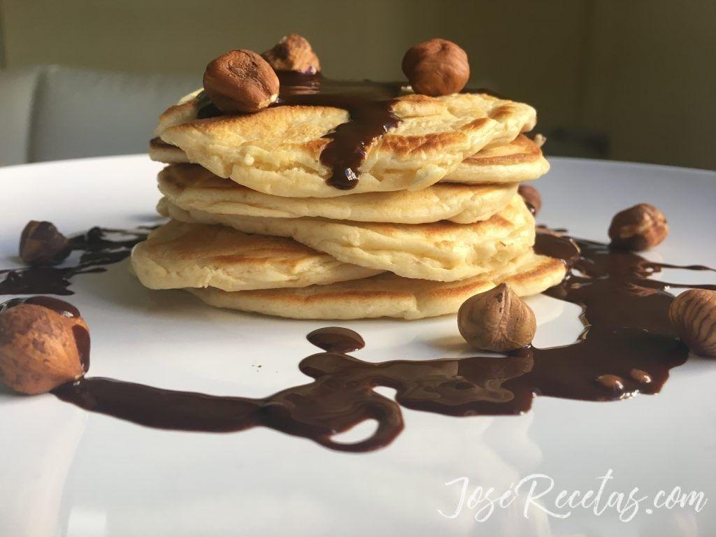 tortitas con chocolate