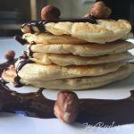 tortitas con avellanas y chocolate
