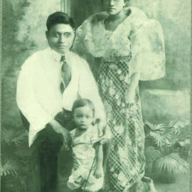 Picture of Florencio, Victoriana, & Siniong Sibayan 1920