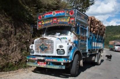 Bhutan - transport truck.