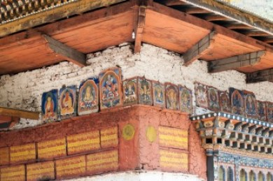 Ancient devotion tiles at Gom Kora temple.