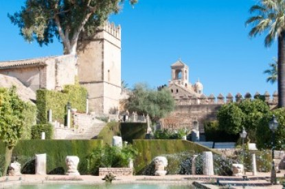Andalusia - Cordoba's gardens of the Alcazar.