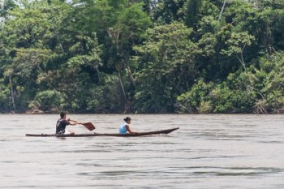 Ecuador - Amazon dugout canoe.