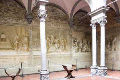 Tuscany - Florence. Cloister of the Scalzo.