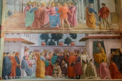 Tuscany - Oltrarno Masaccio frescoes.