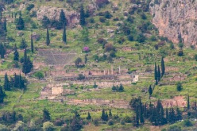 Greece - Delphi, The Archeological site.