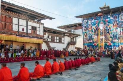 Bhutan - Wangdi Dzong Thongdrel Ceremony.