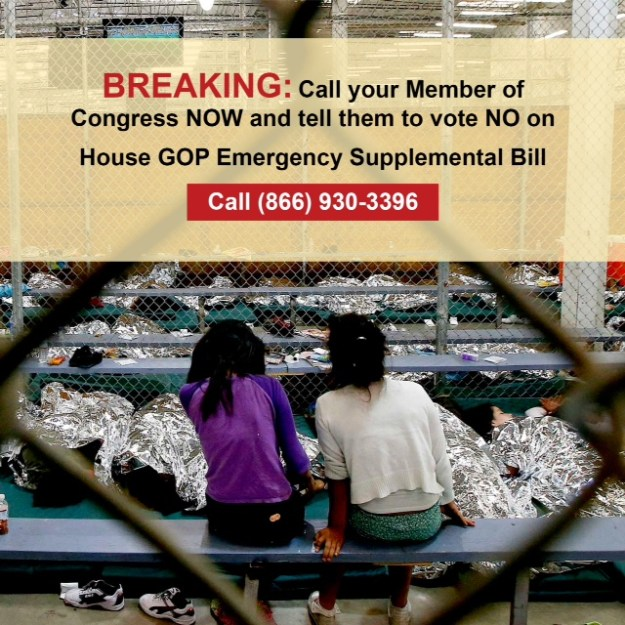 Call Congress No on House supplemental-FB image