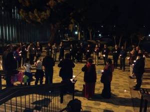 Vigil Before Pomona City Council Resolution on Disappearance of 43 students