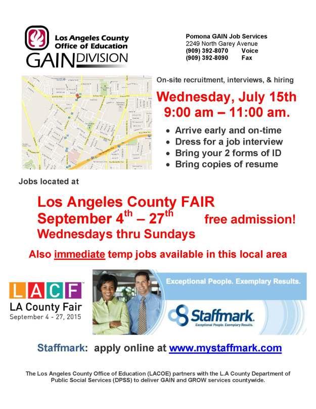 Staffmark LA County Fair July 15th