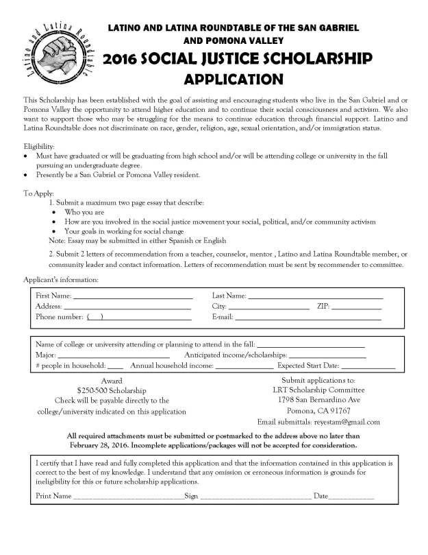 LRT Scholarship Application 2016 (1)
