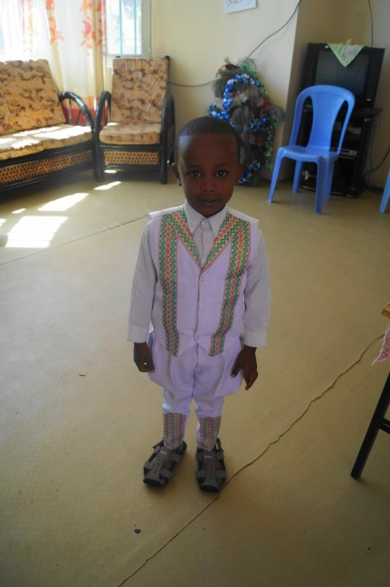 His traditional Ethiopian dress