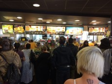 "This London McDonald's was the perfectly embodiment the phrase ""organized chaos."" I was impressed."