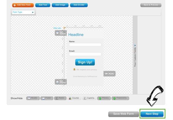 Getresponse webform