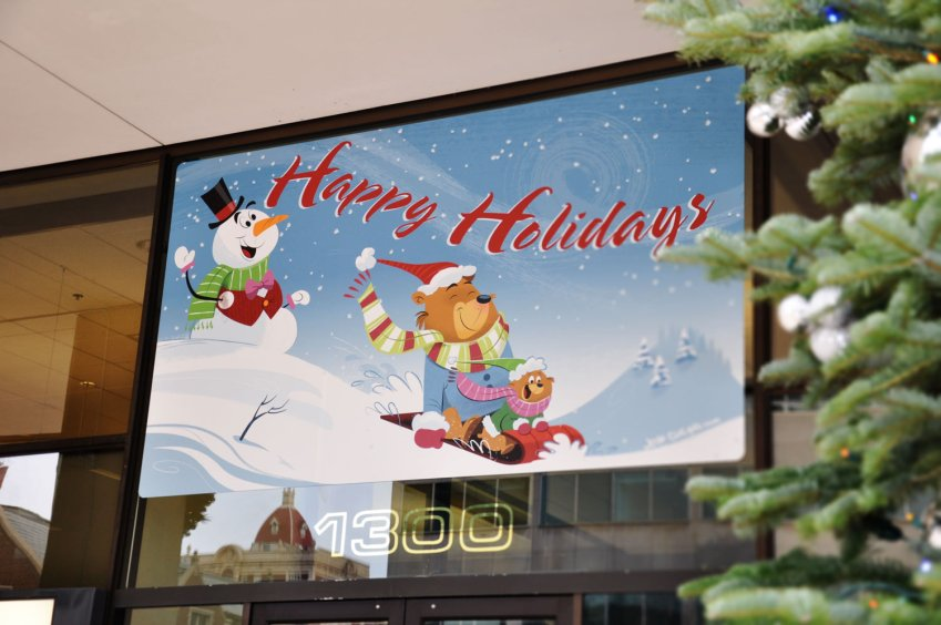 Holiday Greetings Window Sign