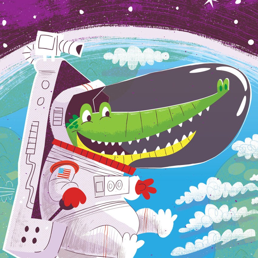 Space animal illustrations