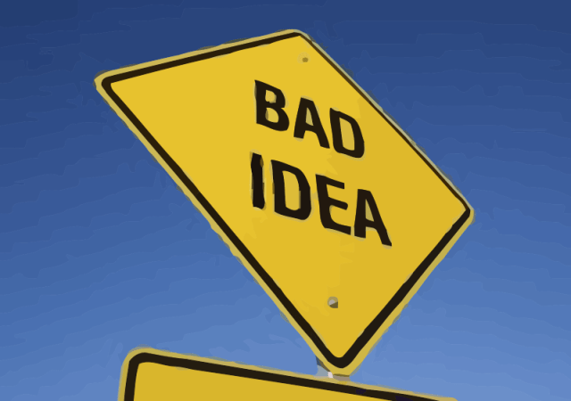 1318751405_Bad_Idea_Road_Sign_answer_2_xlarge_vectorized