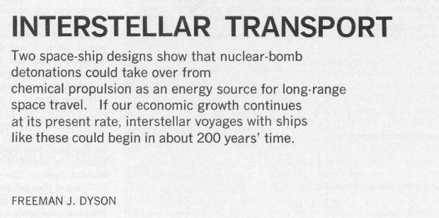 interstellar transport