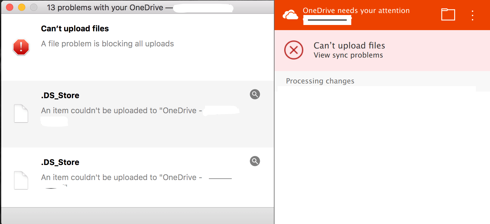 Hidden  DS_Store Files Preventing OneDrive Mac Client File